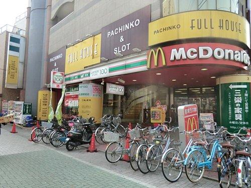 【コンビニエンスストア】100円ローソンまで654m