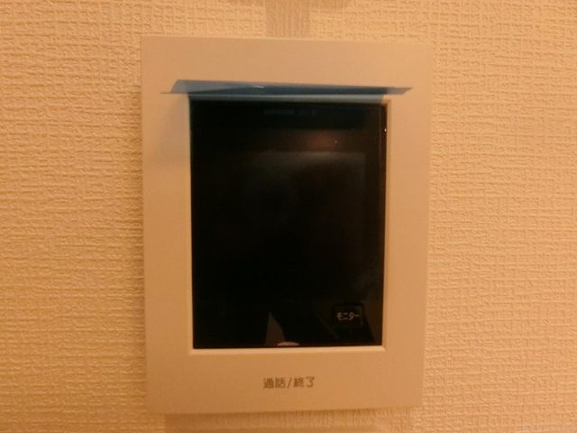 モニター付きインターホンで訪問者の顔が確認できます。