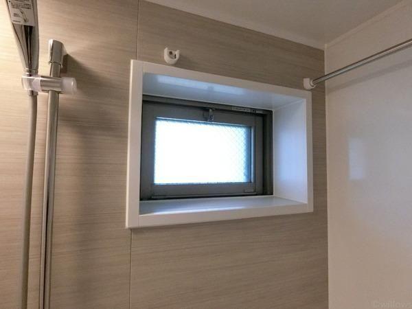 マンションには珍しい窓付きの浴室