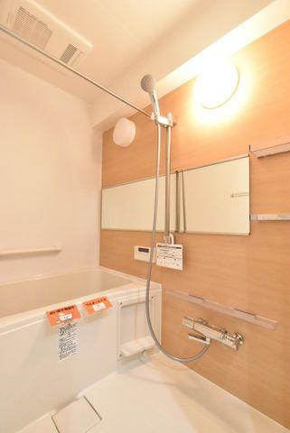 浴室乾燥機付きの浴室です。一日の疲れを綺麗な空間で癒すことができます。