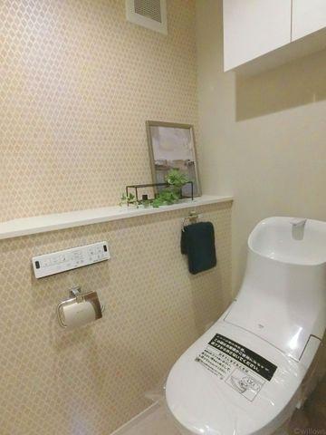 吊戸棚が便利なトイレです!