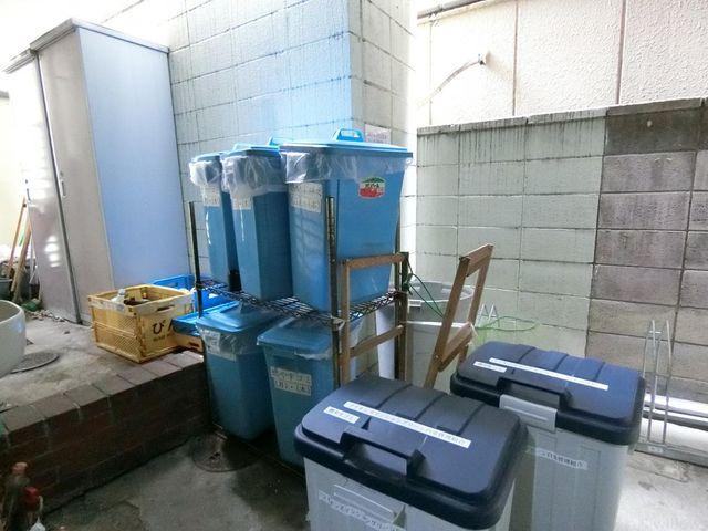 綺麗に管理されたゴミ置き場スペース。
