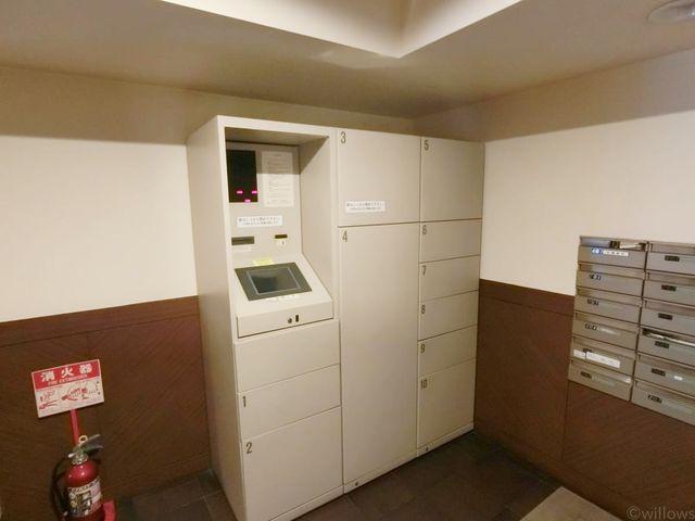 共用部には宅配ボックス付き。留守時の宅配物も受け取ることが出来、毎日の生活を快適にしてくれます。