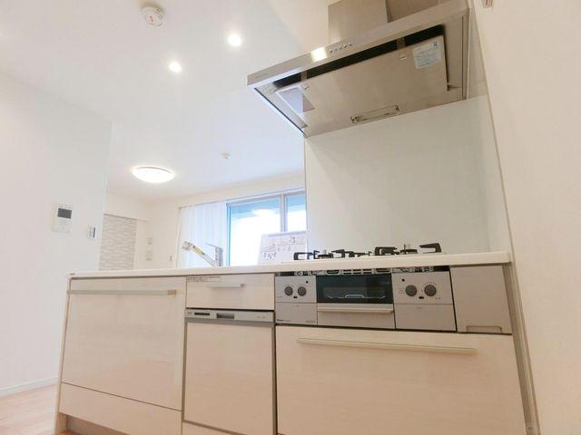 近年最も支持されているのは、リビングが見渡せるオープン型の対面式キッチンです。食洗機も完備されております!