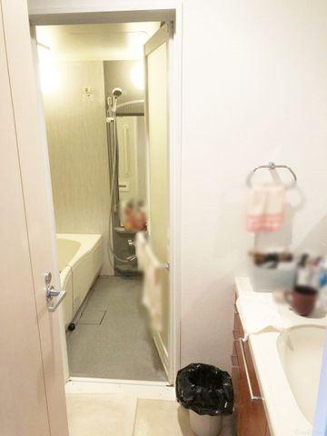 朝・夜に大活躍のスペース。三面鏡の独立洗面台だけでなく、脱衣所をアレンジ。リネン庫や洗濯機置き場のポジションもご一緒に考えましょう!