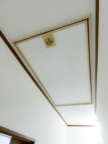 珍しい屋根裏収納です。防災グッツを入れておくのがおすすめですよ。