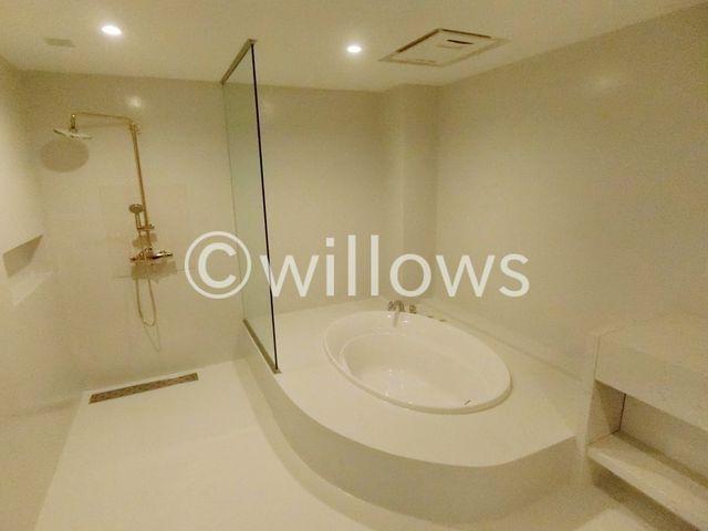ホテルへ宿泊しに来たような充実設備が整っている浴室。心身ともに癒されつつ、プライベートなひとときを送ることができるでしょう。シャワールームも完備。