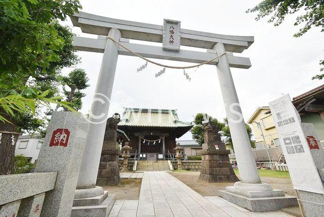 八幡神社 徒歩2分。 160m