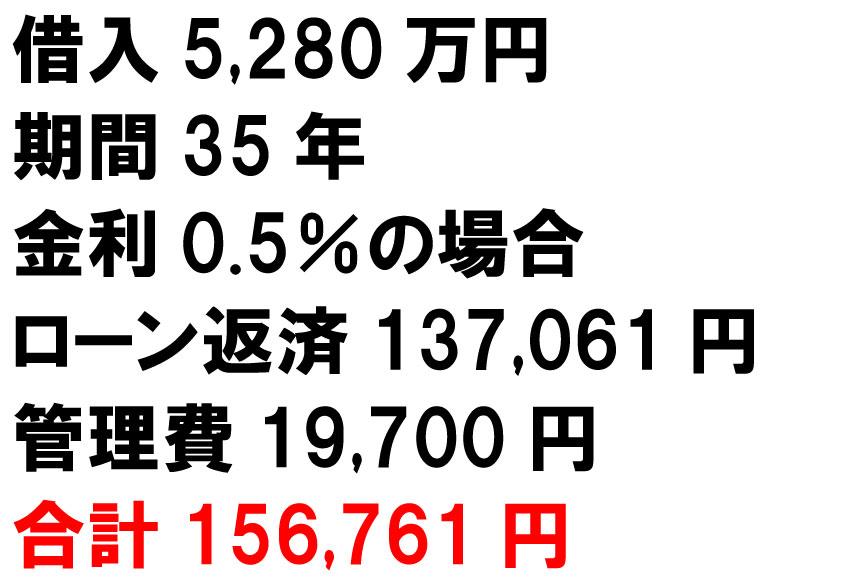 5280万円のフルローン返済額は13.7万円